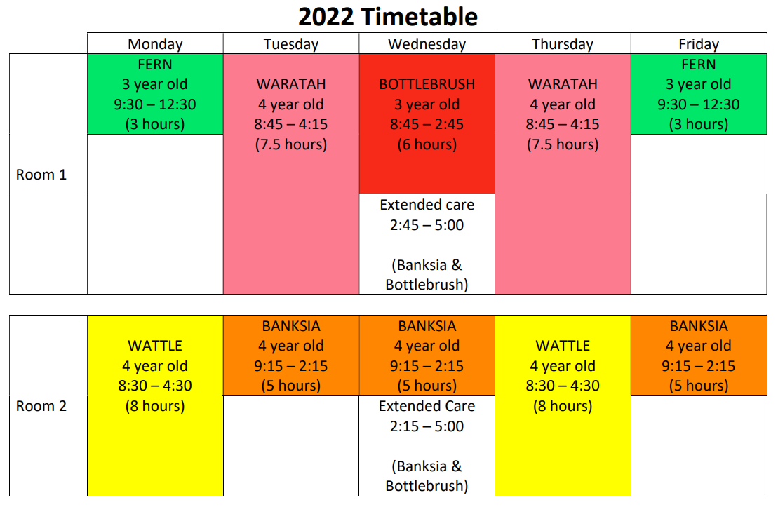 Our 2022 timetable is ready!